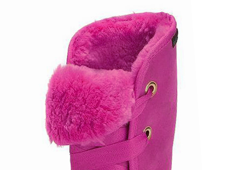 Adults Bright Rose Dance Tall Ugg Boot Cuff Detail