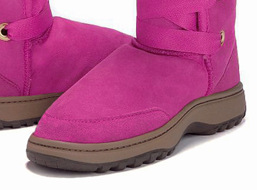 Adults Bright Rose Dance Tall Ugg Boot Outdoor Sole Detail