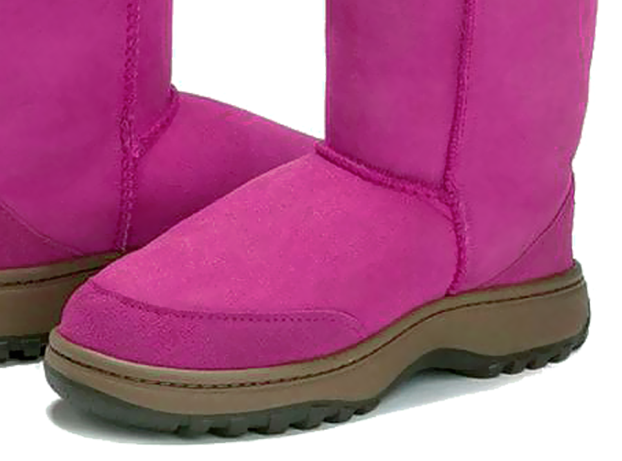 Adults Bright Rose Classic Tall Ugg Boots Outdoor Sole Detail