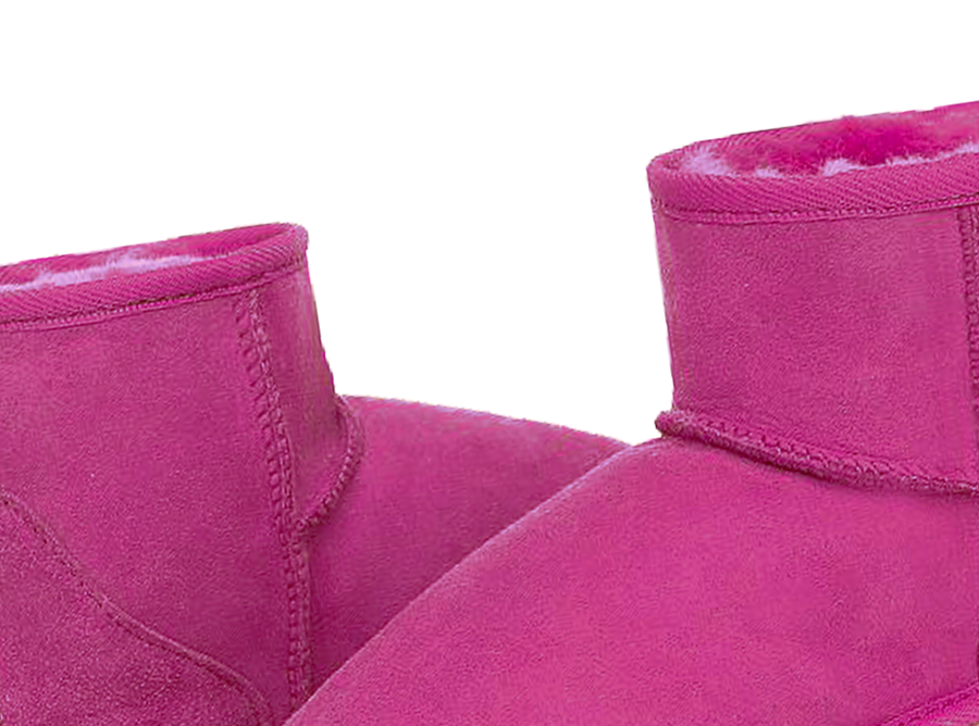 Adults Bright Rose Classic Mini Ugg Boots Detail