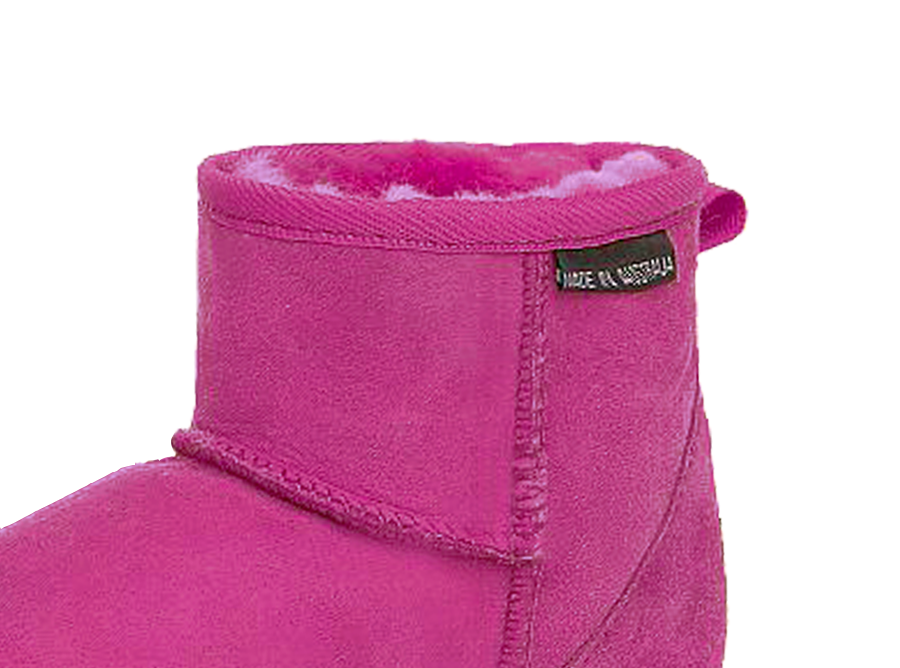 Adults Bright Rose Classic Mini Ugg Boots Cuff