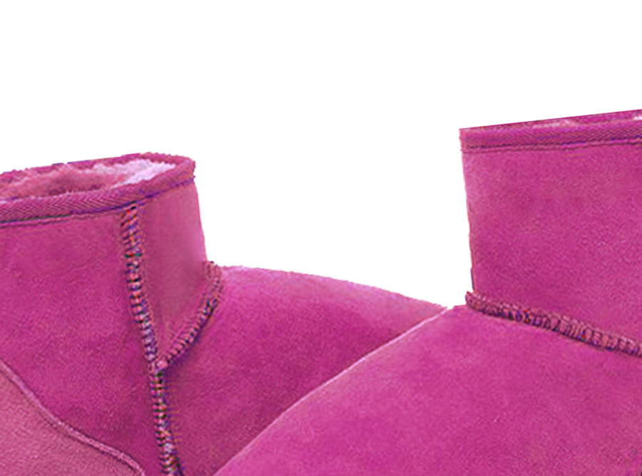 Adults Bright Rose Classic Ultra Short Ugg Boots Detail
