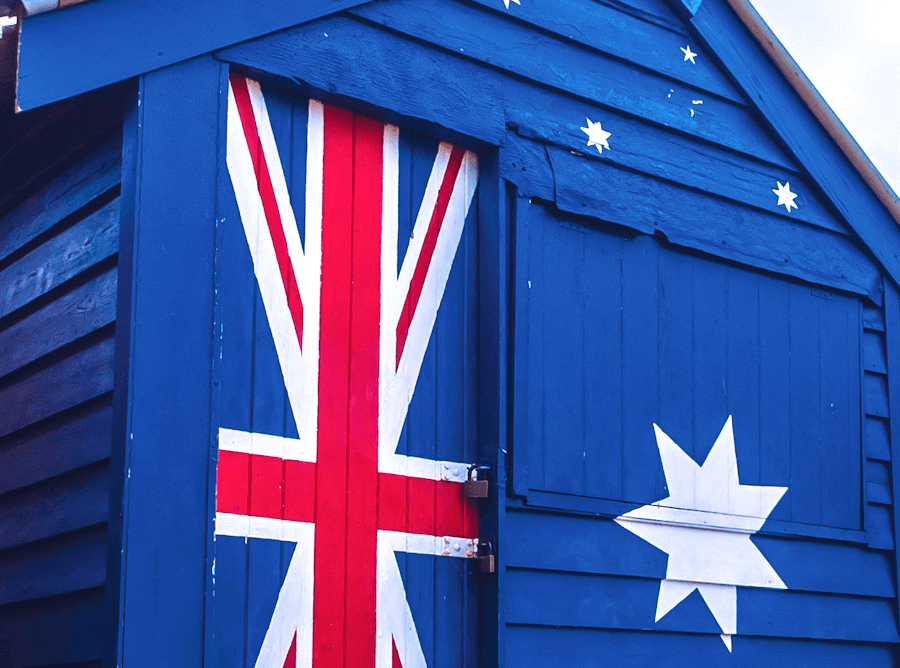 Australian Flag Beach Box Colour