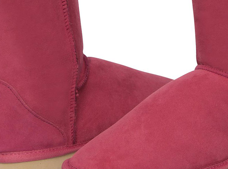 Adults Burgundy Short Deluxe Ugg Boot Detail
