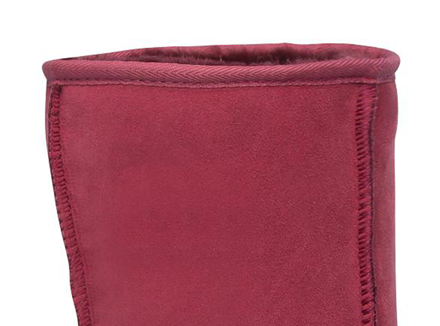 Adults Burgundy Short Deluxe Ugg Boot Cuff