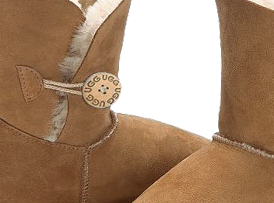 Adults Chestnut Bella Button Ugg Boot Button Detail