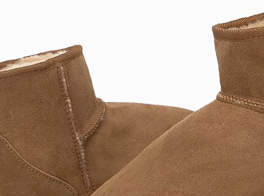 Adults Chestnut Classic Mini Ugg Boots Detail