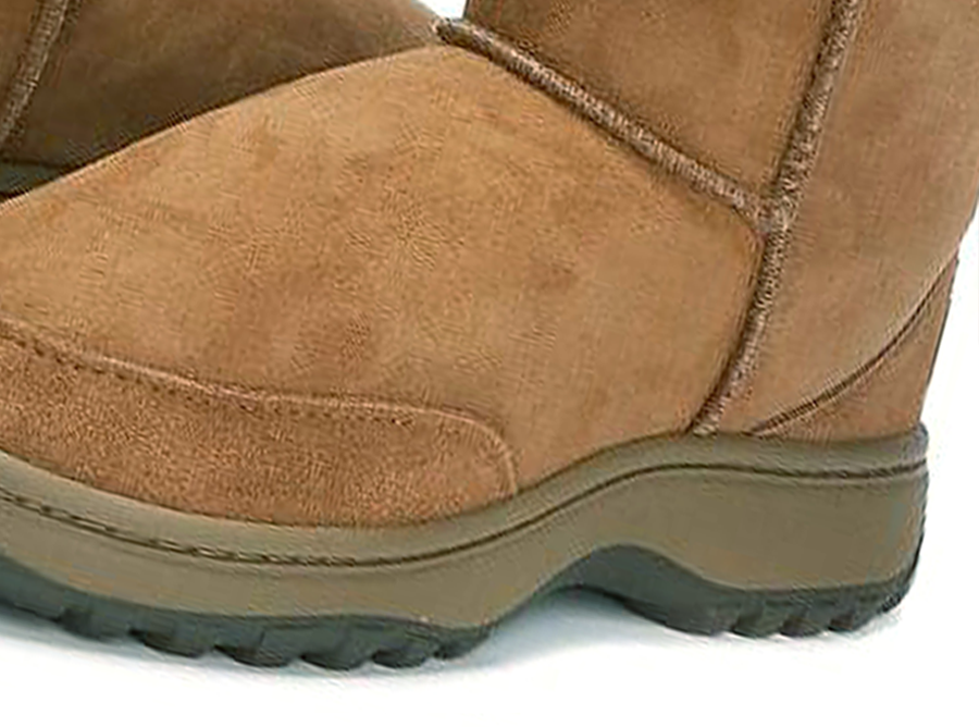 Adults Chestnut Classic Mini Ugg Boots Outdoor Sole Detail