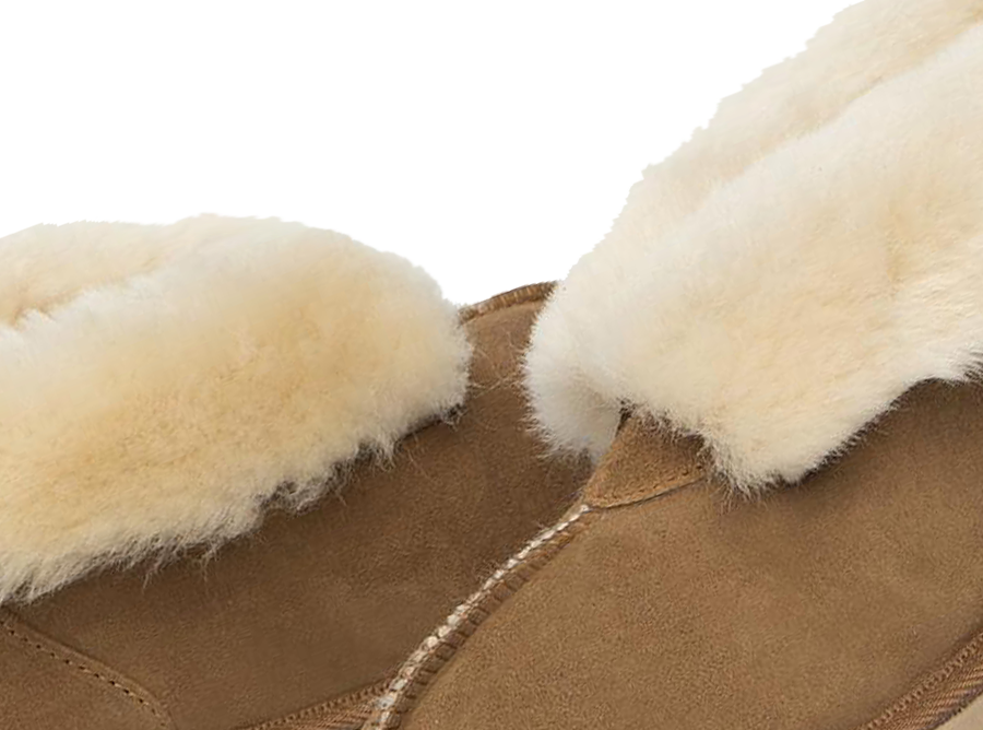 Adults chestnut Classic Ugg Style Slipper Detail