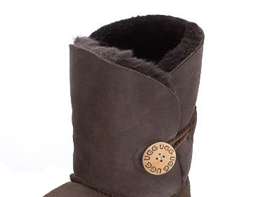 Adults Chocolate Bella Button Ugg Boot Cuff