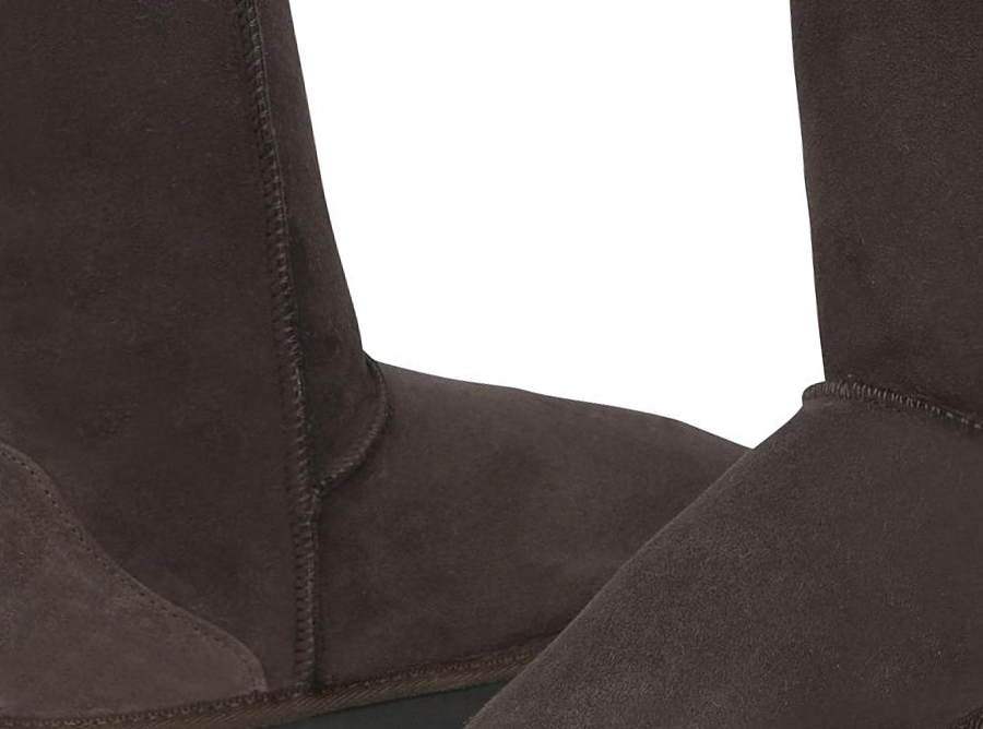 Adults Chocolate Short Deluxe Ugg Boot Detail