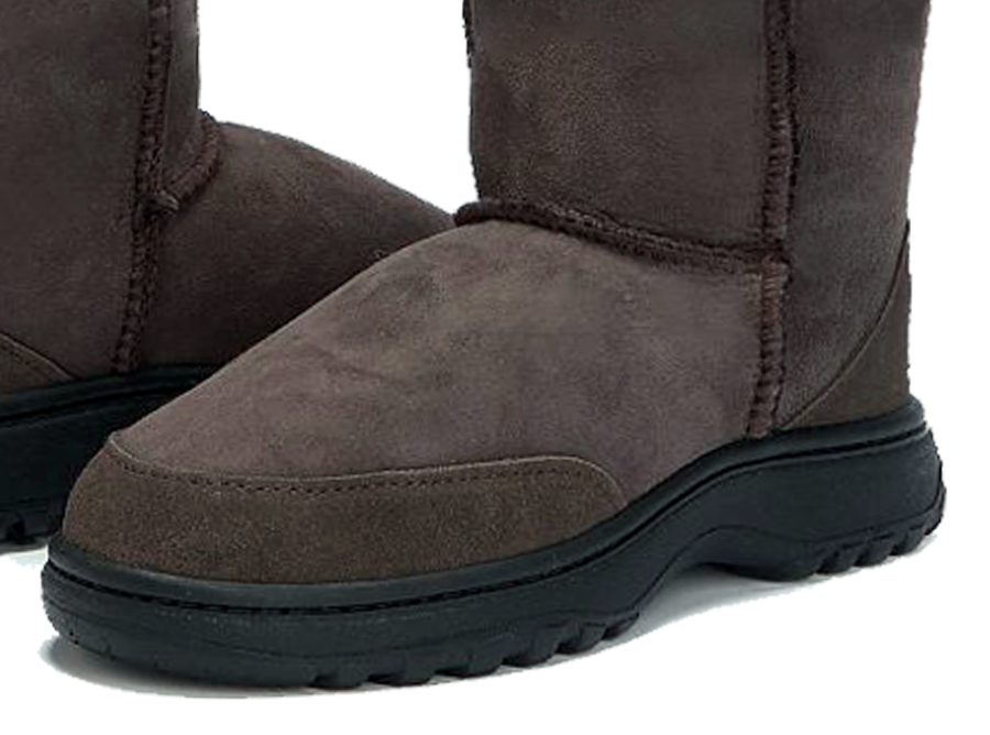Adults Chocolate Classic Short Ugg Boots Outdoor Sole Detail