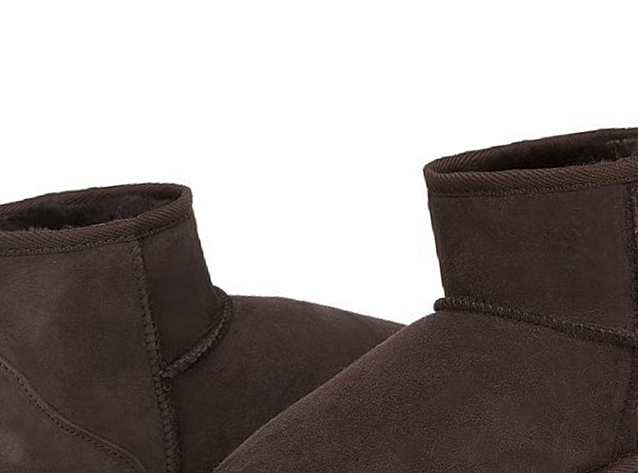 Adults Chocolate Classic Mini Ugg Boots Detail