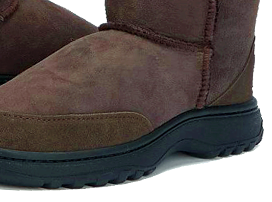 Adults Chocolate Classic Mini Ugg Boots Outdoor Sole Detail
