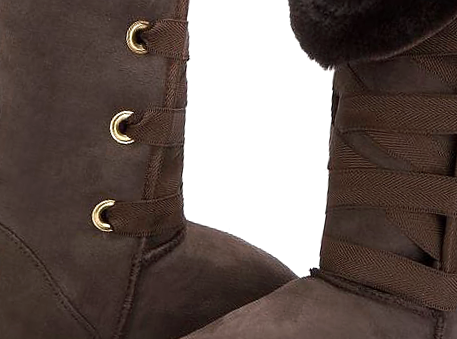 Adults Chocolate Dance Tall Ugg Boot Detail