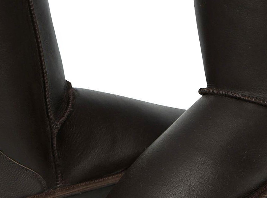 Adults Chocolate Napa Classic Short Ugg Boots Detail