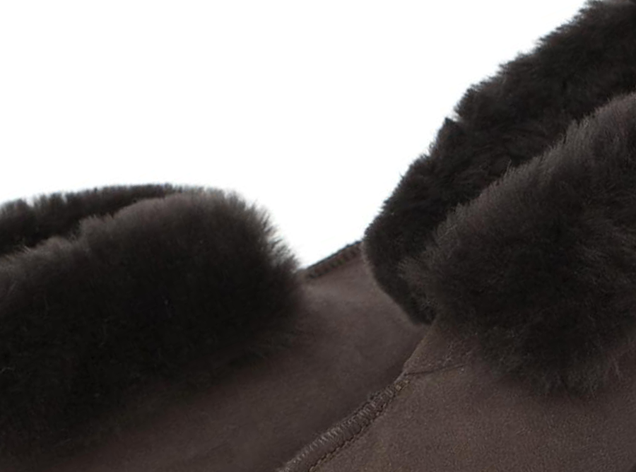 Adults Chocolate Classic Ugg Style Slipper Detail