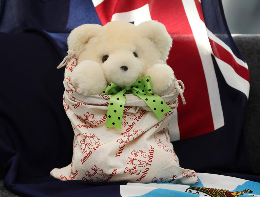 Basil Bear Cream gifted to the Duke and Duchess of Sussex in 2018