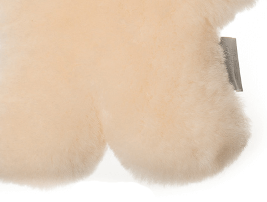 Kids Cream Sheepskin Flat Bear Feet Detail