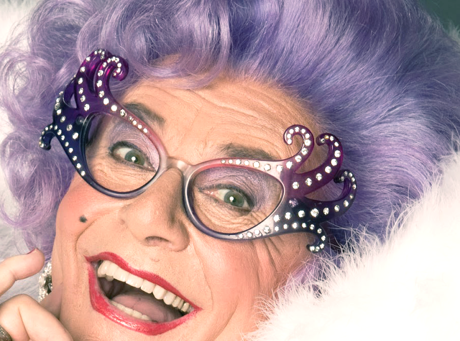 Australian Dame Edna Hair Colour