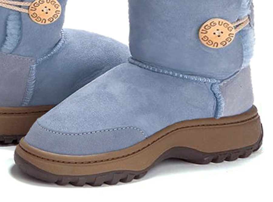 Adults denim Blue Bella Button Ugg Boot Outdoor Sole Detail