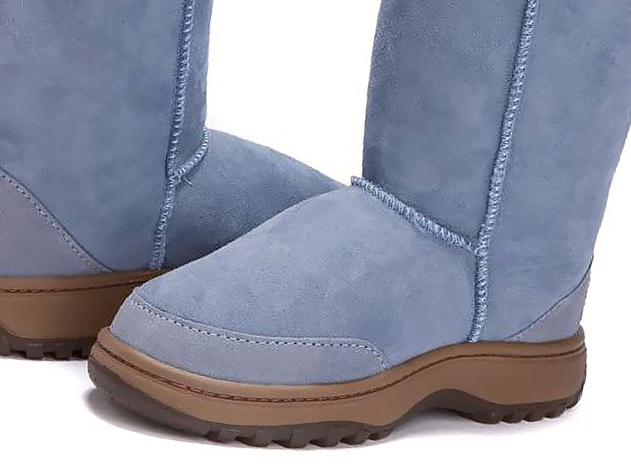 Adults Denim Blue Ugg Boots with Outdoor Sole