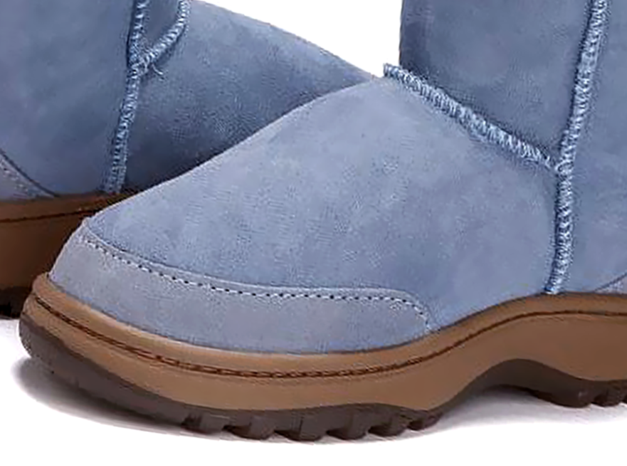 Adults Denim Blue Classic Mini Ugg Boots Outdoor Sole Detail
