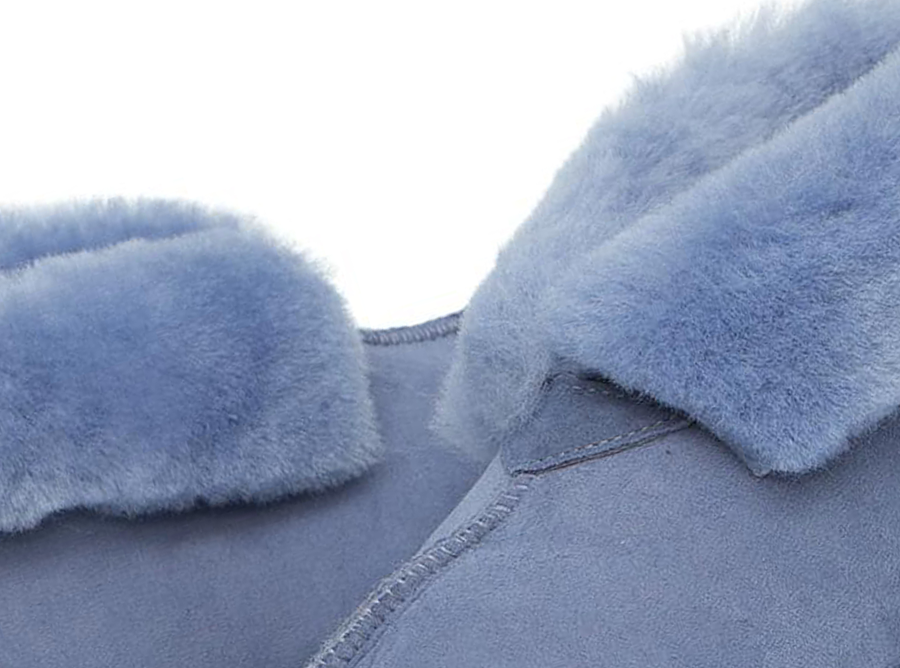 Adults Denim Blue Classic Ugg Style Slipper Detail