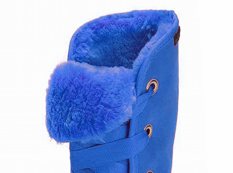 Adults Electric Blue Dance Tall Ugg Boot Cuff Detail