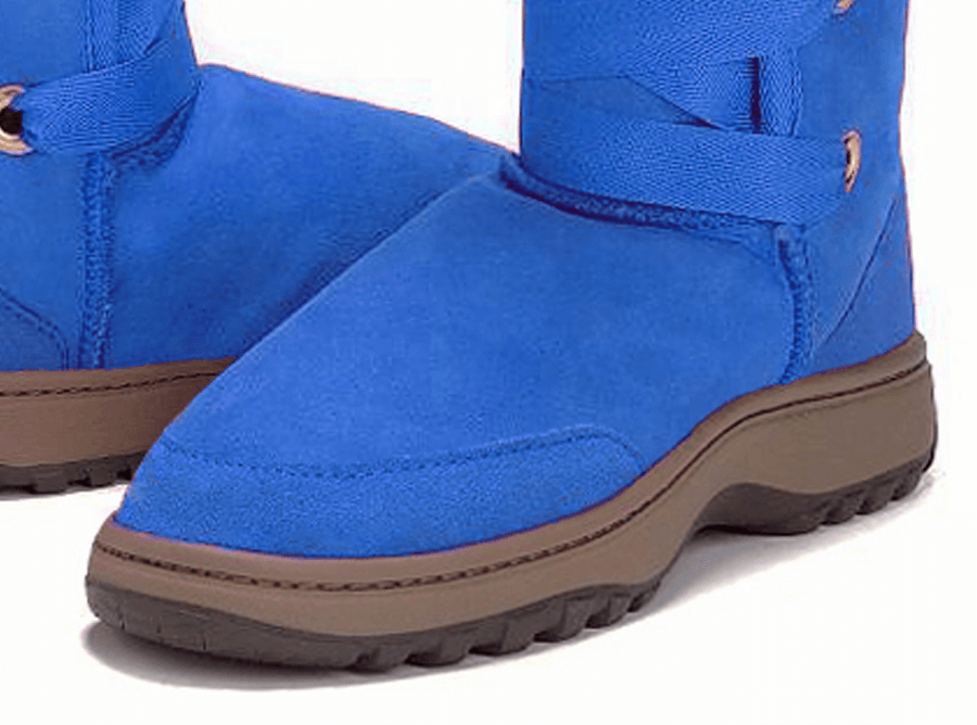Adults Electric Blue Dance Tall Ugg Boot Outdoor Sole Detail