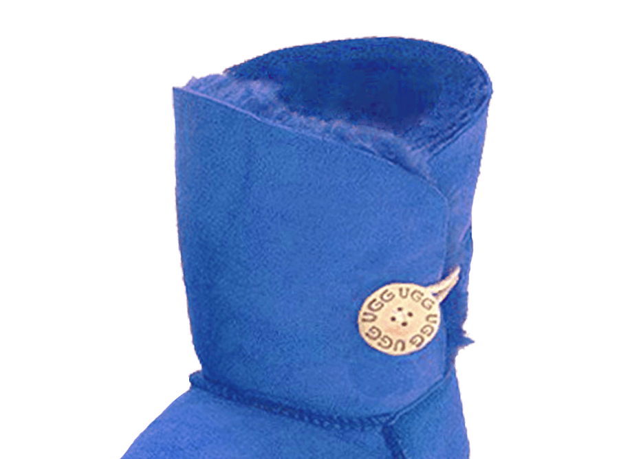 Adults Electric Blue Bella Button Ugg Boot Cuff Detail