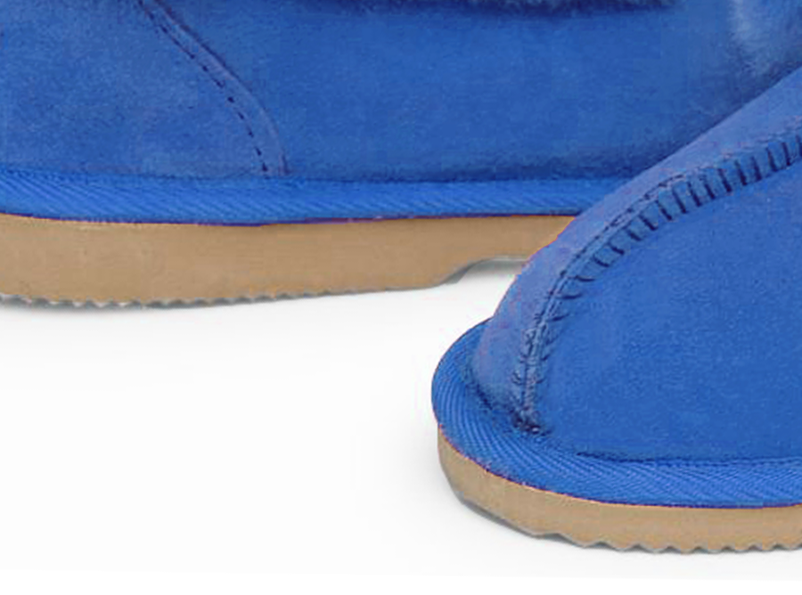 Adults Electric Blue Classic Ugg Style Slipper Classic Sole Detail