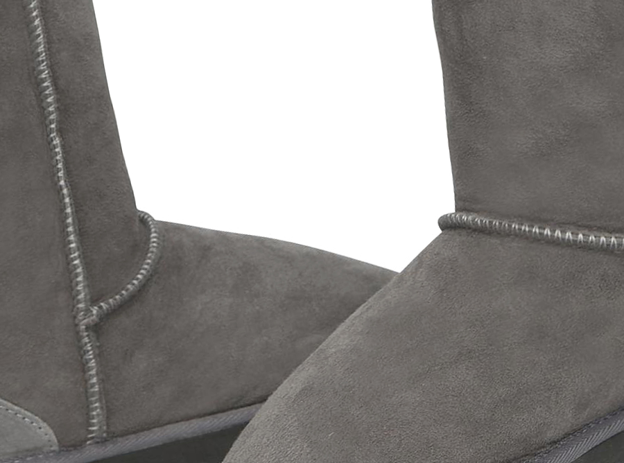 Adults Grey Classic Short Ugg Boots Detail
