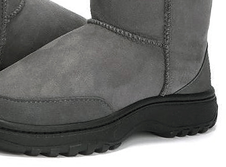 Adults Grey Classic Ultra Short Ugg Boots Outdoor Sole Detail