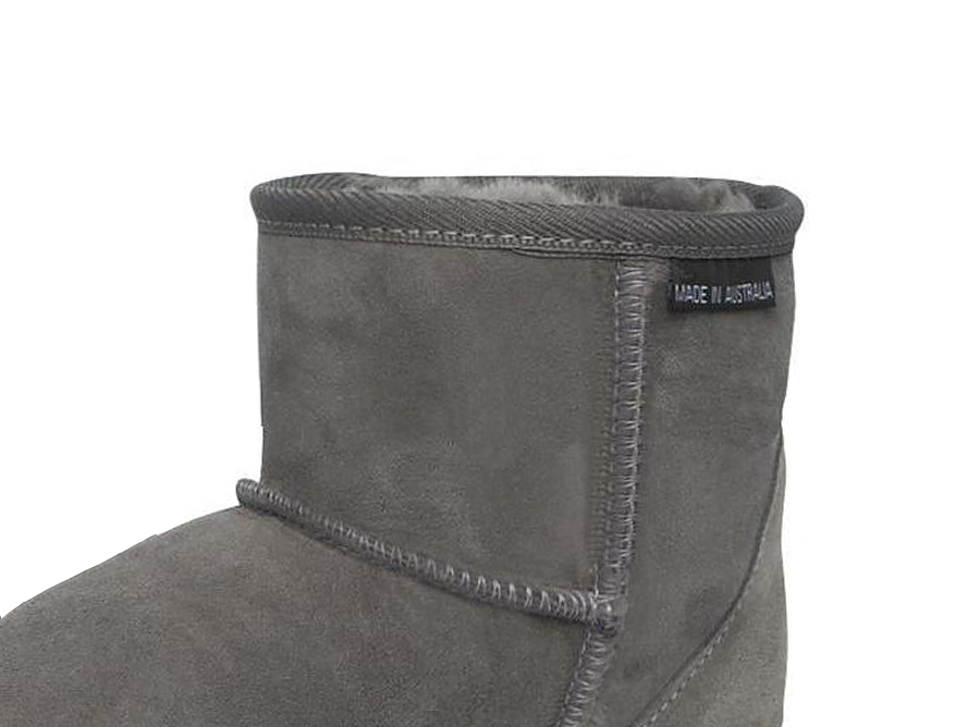 Adults Grey Classic Ultra Short Ugg Boots Cuff