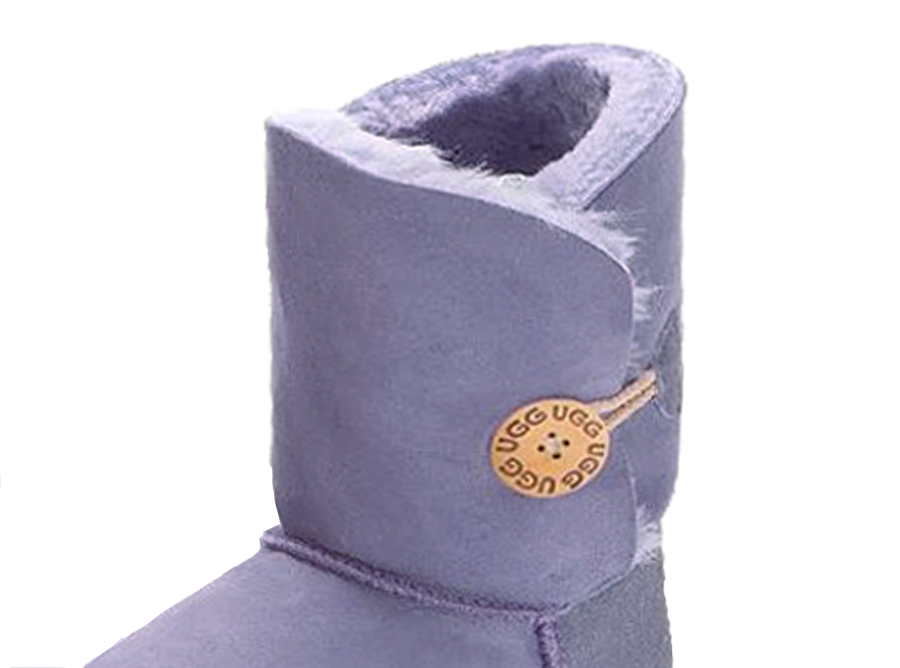 Adults Lilac Bella Button Ugg Boot Cuff Detail