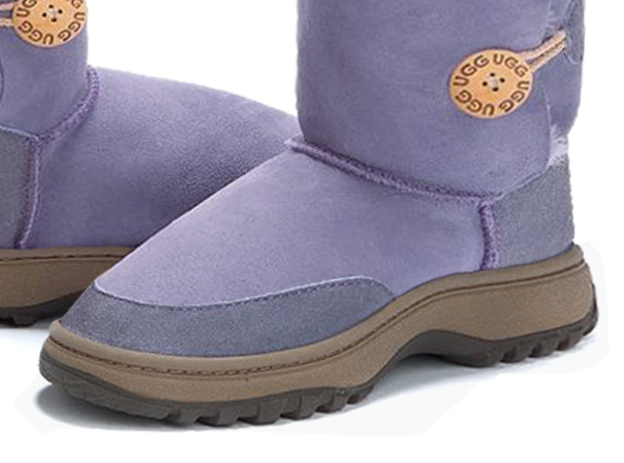 Adults Lilac Bella Button Ugg Boot Outdoor Sole Detail