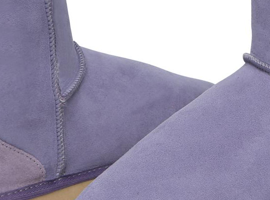 Adults Lilac Short Deluxe Ugg Boots Detail