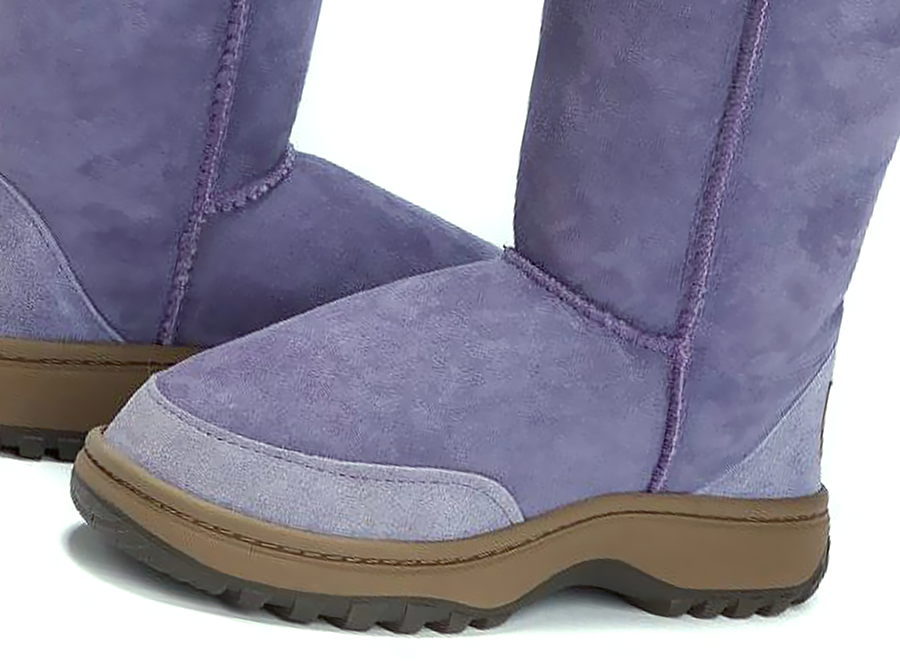 Adults Lilac Short Deluxe Ugg Boot Outdoor Sole Detail