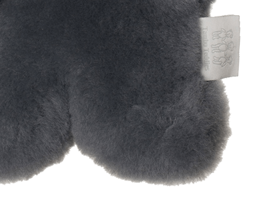 Kids Mid Grey Sheepskin Flat Bear Feet Detail