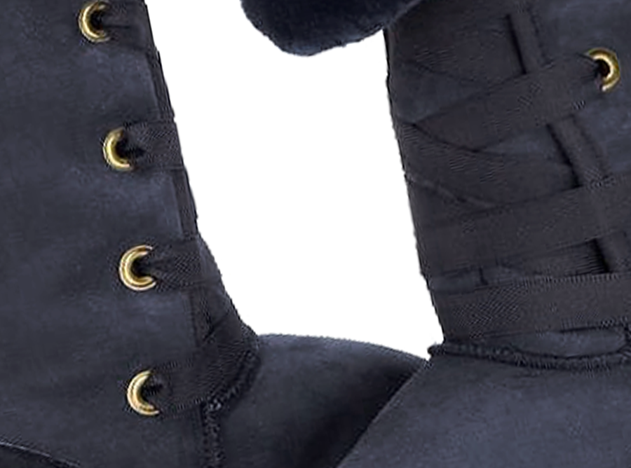 Adults Navy Blue Dance Tall Ugg Boot Detail