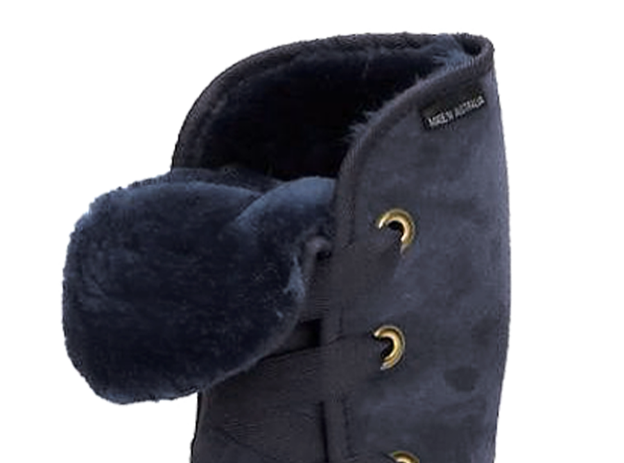 Adults Navy Blue Dance Tall Ugg Boot Cuff Detail