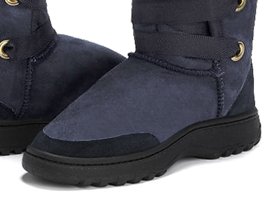 Adults Navy Blue Dance Tall Ugg Boot Outdoor Sole Detail