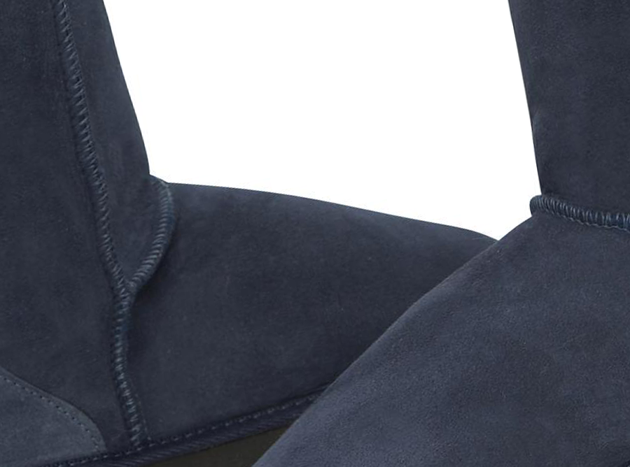 Adults Navy Blue Classic Short Ugg Boots Detail