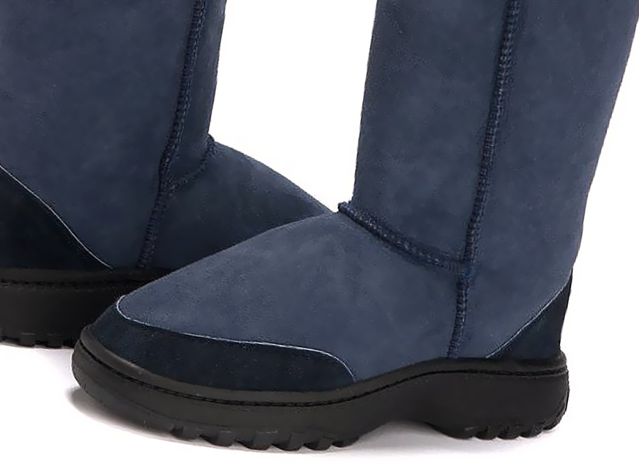 Adults Navy Blue Ugg Boots with Outdoor Sole