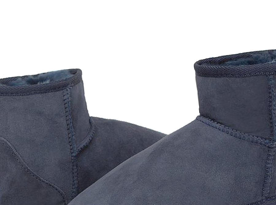 Adults Navy Blue Classic Mini Ugg Boots Detail