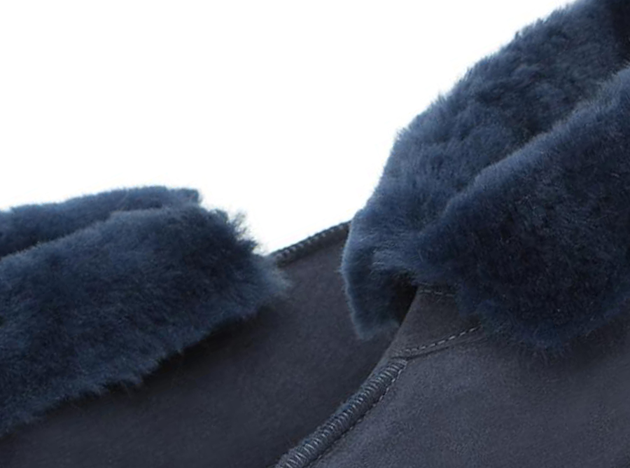 Adults Navy Classic Ugg Style Slipper Detail