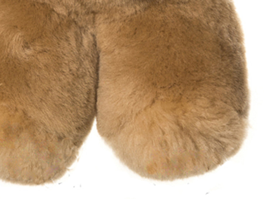 Kids Neutral Patch Sheepskin Toby Bear Feet Detail