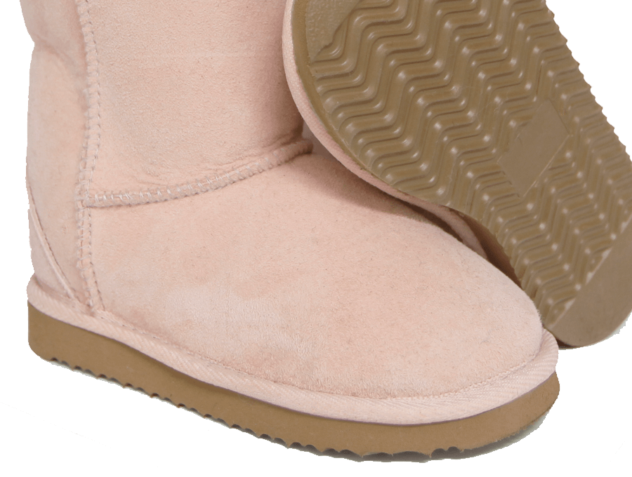 Kids Pink Classic Short Ugg Boot Sole Detail