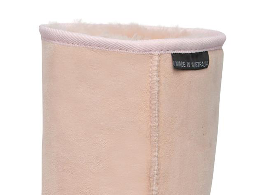 Adults Pink Short Deluxe Ugg Boots Cuff